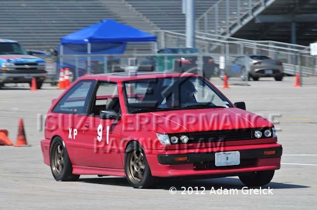 Isuzuperformance Racing Team Isuzu I-Mark RS on Race Track Autocross Solo SCCA Isuzu Racing