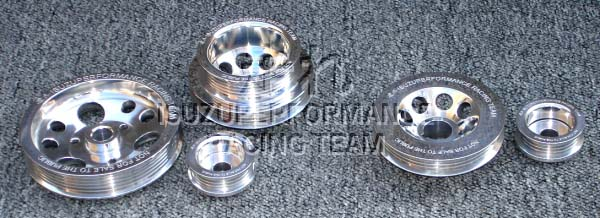 Isuzuperformance Racing Team Alumimum Underdrive Pulley Set Crank Alternator Power Steering Isuzu 